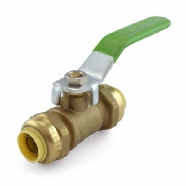 """1/2"""" x 1/2"""" Push To Connect Ball Valve, Lead-Free"""