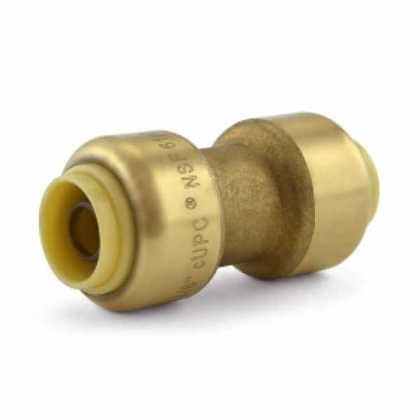 "3/8"" x 3/8"" Push To Connect Coupling, Lead-Free"