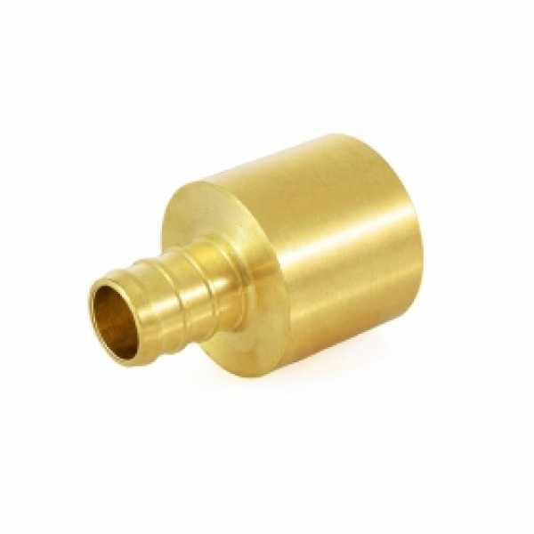 """1/2"""" PEX x 3/4"""" Copper Pipe Adapter (Lead-Free)"""