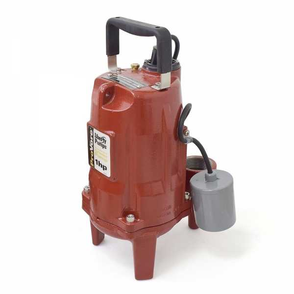 """Liberty Pumps PRG101A 1 HP Automatic Grinder Pump w/ Piggyback Wide Angle Float Switch, 110V ~ 120V, 10"""" cord"""