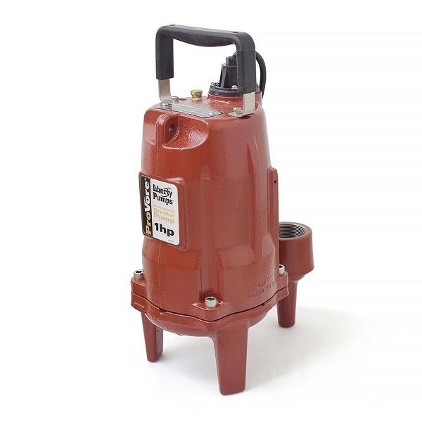 """Liberty Pumps PRG101M 1 HP Manual Grinder Pump, 110V ~ 120V, 10"""" cord"""
