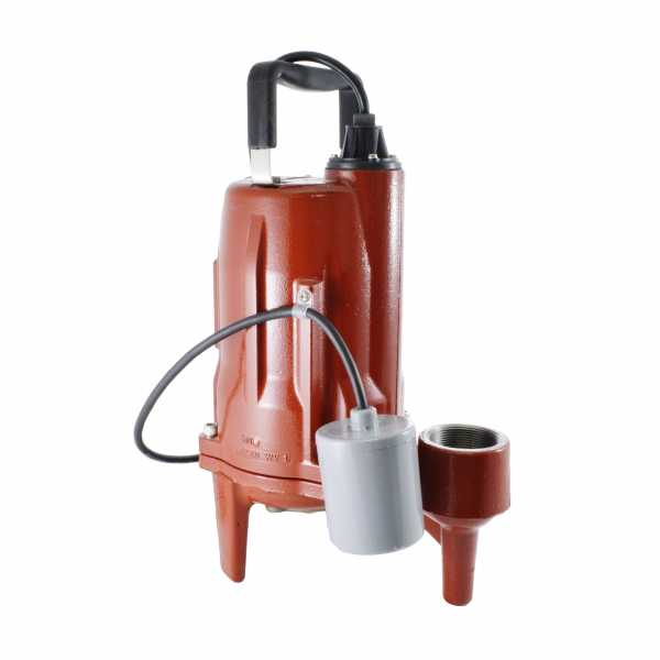 """Liberty Pumps PRG102A 1 HP Automatic Grinder Pump w/ Piggyback Wide Angle Float Switch, 208V ~ 240V, 10"""" cord"""