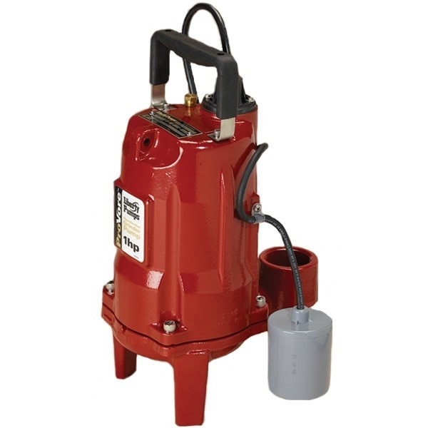 "Liberty Pumps PRG102A-2 1 HP Automatic Grinder Pump w/ Piggyback Wide Angle Float Switch, 208V ~ 240V, 25"" cord"