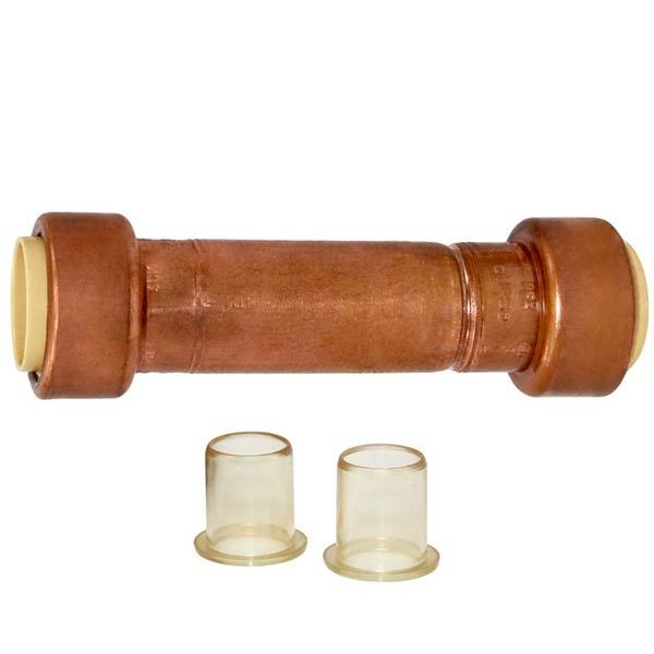 "1/2"" x 1/2"" Push to Connect Copper Slip Coupling, Lead-Free"