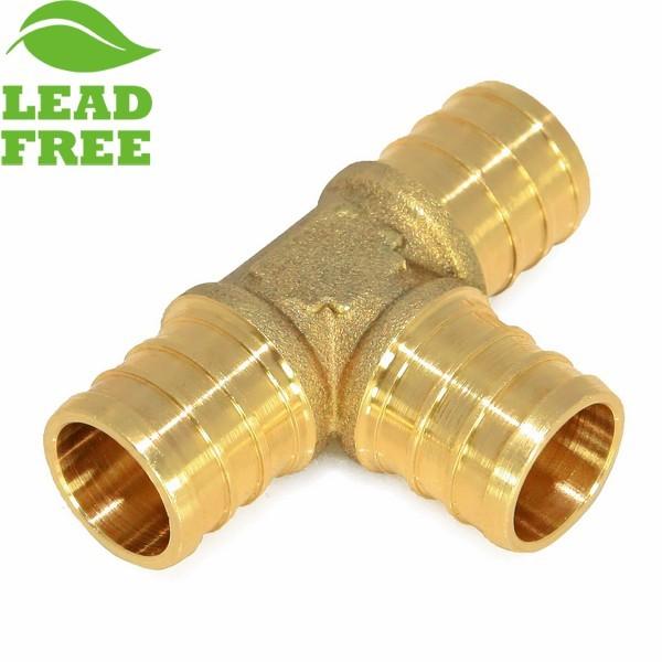 """Everhot PLF6909 1"""" x 1"""" x 1"""" Lead-Free PEX Tee"""