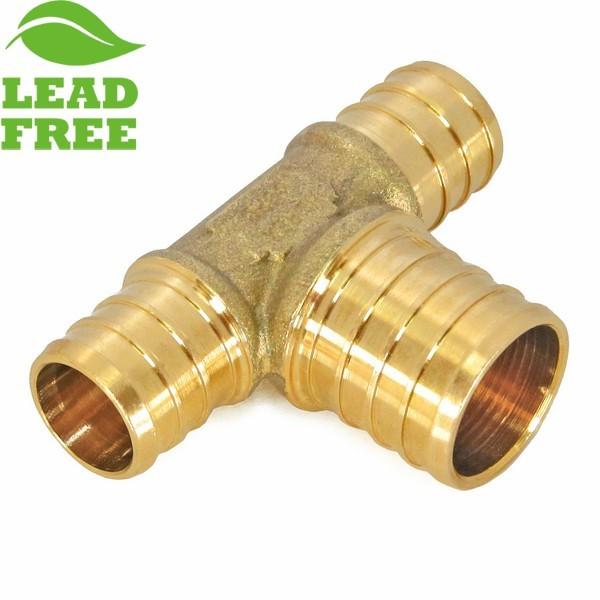 """Everhot PLF6910 3/4"""" x 3/4"""" x 1"""" Lead-Free PEX Reducing Tee"""