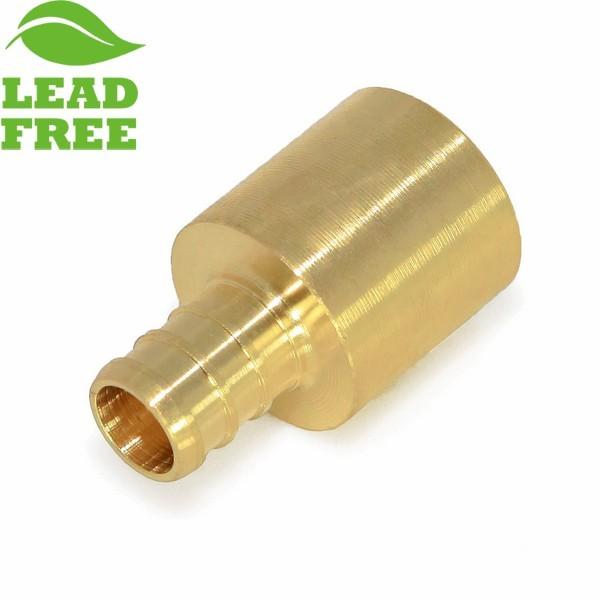 "Everhot PXLF7209 3/4"" PEX x 1"" Lead-Free Copper Fitting Adapter"