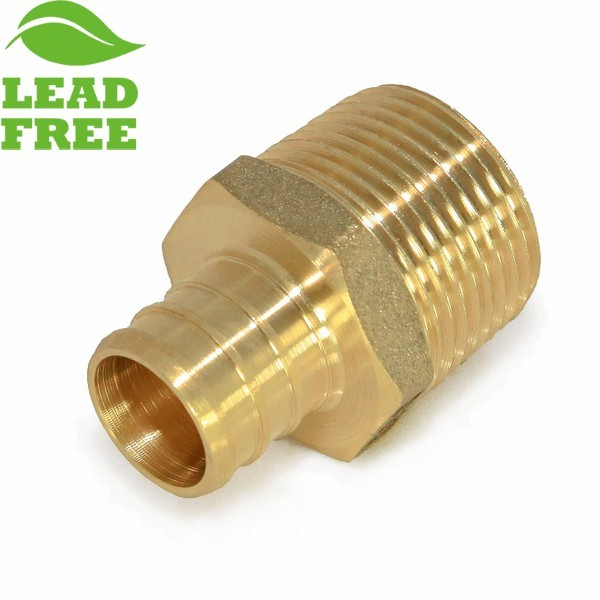 "Everhot PLF7407 1"" PEX x 1"" Lead-Free Male Threaded Adapter"