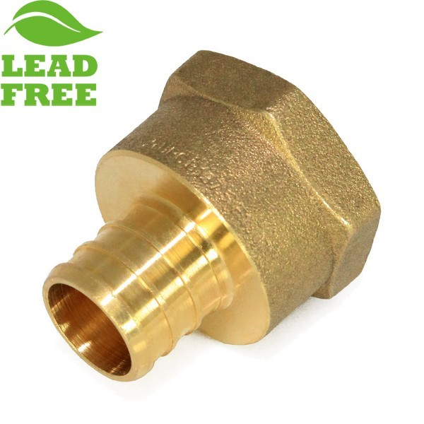 "Everhot PLF7507 1"" PEX x 1"" Lead-Free Female Threaded Adapter"