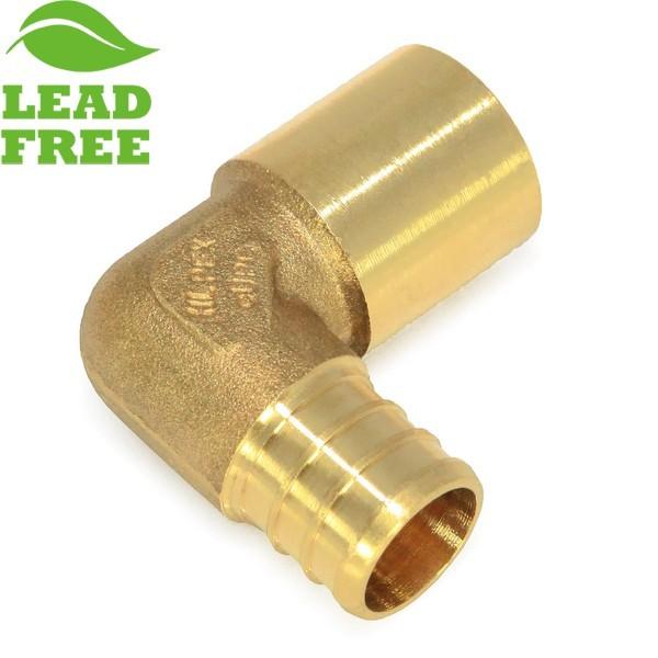 "Everhot PLF7603 3/4"" PEX x 3/4"" Lead-Free Copper Fitting Elbow"