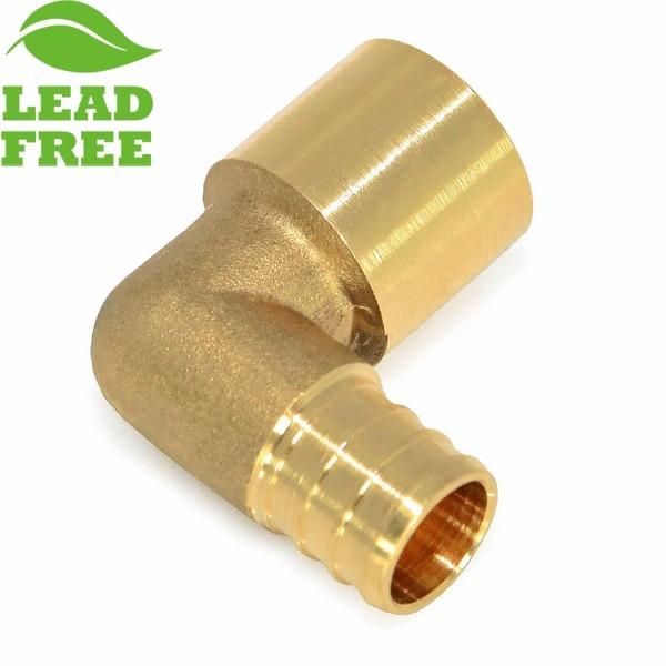 "Everhot PLF7703 3/4"" PEX x 3/4"" Lead-Free Copper Pipe Elbow"