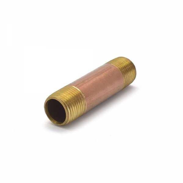 "Everhot RB-012X3 1/2"" x 3"" Brass Pipe Nipple"