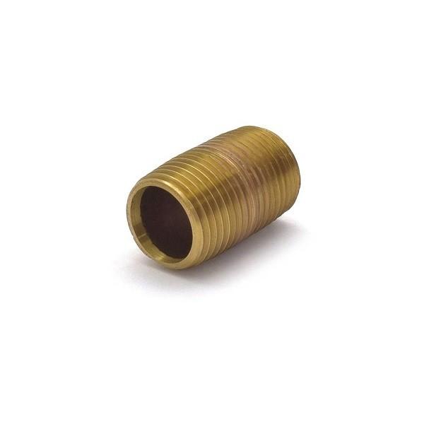 "Everhot RB-012XCL 1/2"" x Close Brass Pipe Nipple"