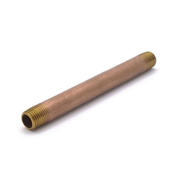 "Everhot RB-014X5 1/4"" x 5"" Brass Pipe Nipple"
