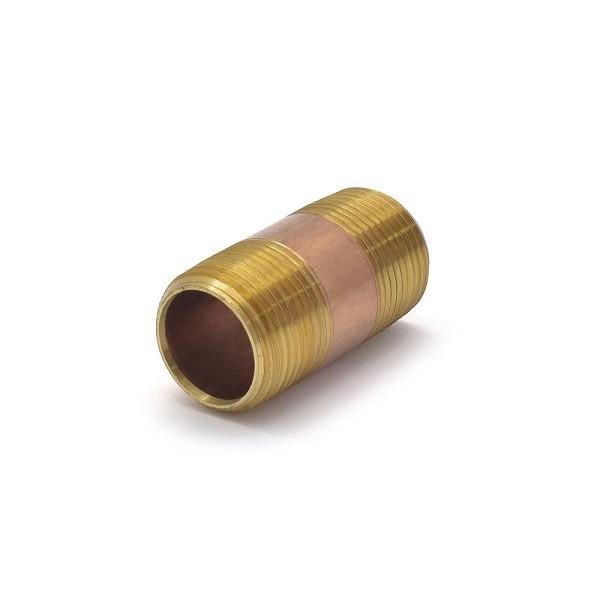 "Everhot RB-034X2 3/4"" x 2"" Brass Pipe Nipple"