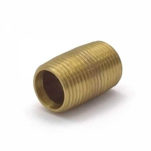 "Everhot RB-038XCL 3/8"" x Close Brass Pipe Nipple"