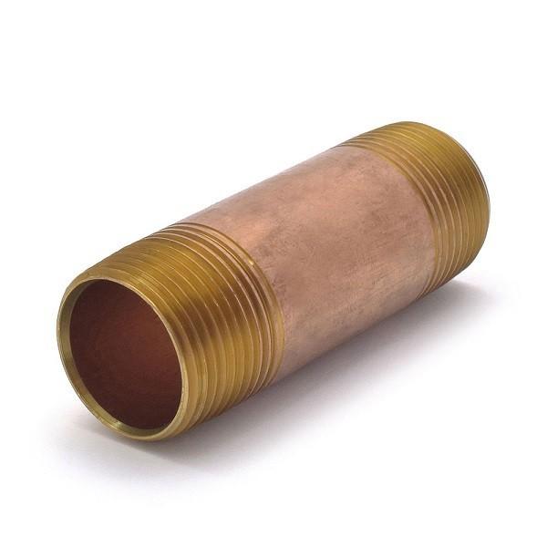 "Everhot RB-100X312 1"" x 3-1/2"" Brass Pipe Nipple"