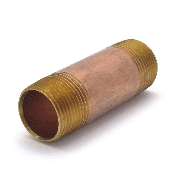 "Everhot RB-100X412 1"" x 4-1/2"" Brass Pipe Nipple"