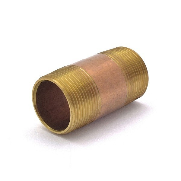 "Everhot RB-114X3 1-1/4"" x 3"" Brass Pipe Nipple"