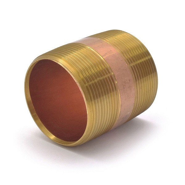"Everhot RB-200X212 2"" x 2-1/2"""" Brass Pipe Nipple"