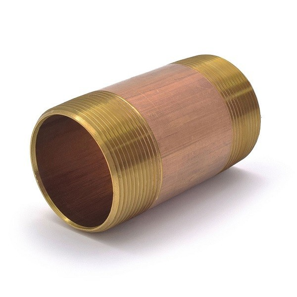 "Everhot RB-200X4 2"" x 4"" Brass Pipe Nipple"