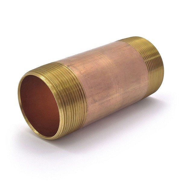 "Everhot RB-200X5 2"" x 5"" Brass Pipe Nipple"