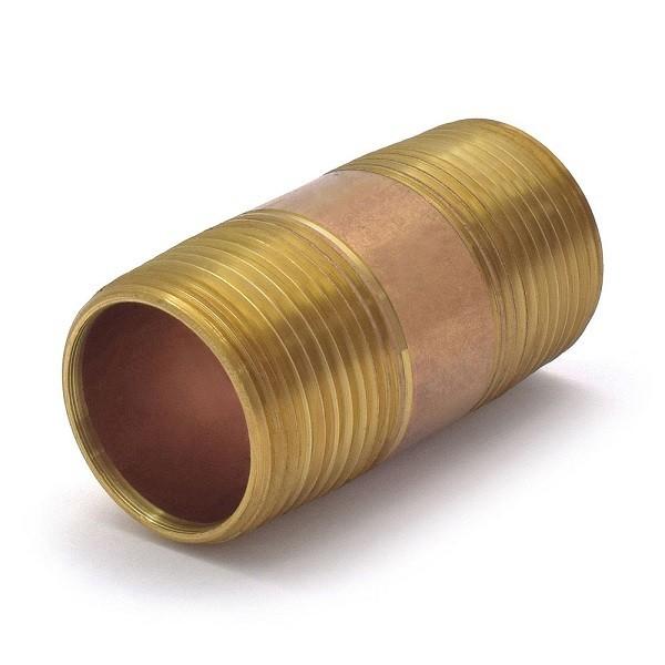 "1"" x 2-1/2"" Brass Pipe Nipple"