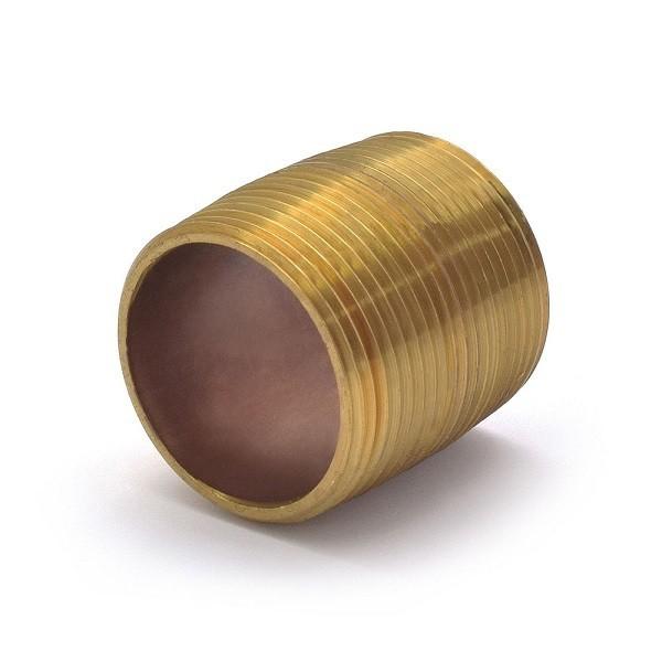 "1-1/4"" x Close Brass Pipe Nipple"