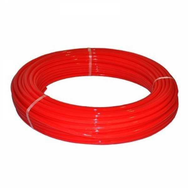 """1"""" x 100 ft. PEX Plumbing Pipe, Non-Barrier (Red)"""