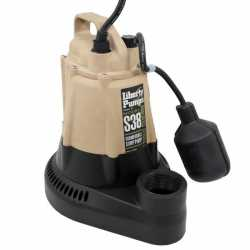 Liberty Pumps S38, 1/3HP Automatic Sump Pump, Wide Angle Float Switch, 115V, 10'