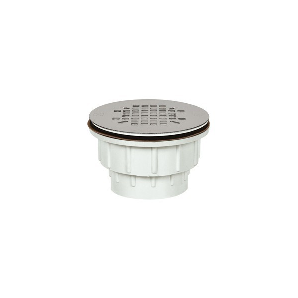 "2"" Hub PVC, Shower Module Drain w/ Snap-in Strainer"