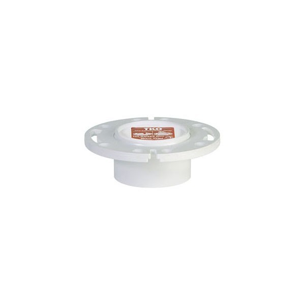 """Sioux Chief 883-PT Total Knockout Closet Flange with Plastic Ring (3"""" Hub / 4"""" Inside)"""