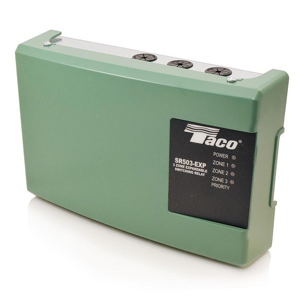 Taco 3-Zone Switching Relay with Priority,Expandable SR503-EXP-4