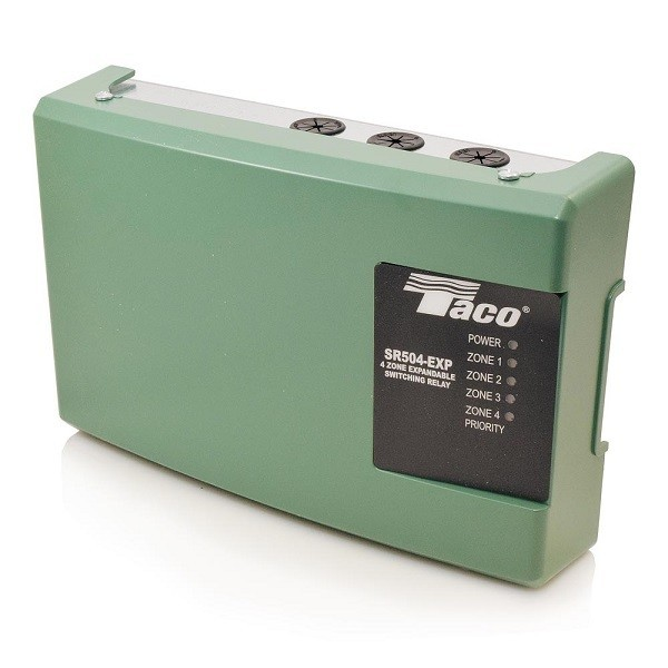 Taco 4-Zone Switching Relay with Priority,Expandable SR504-EXP-4