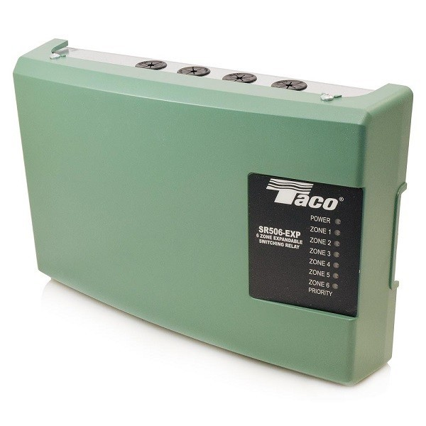 Taco 6-Zone Switching Relay with Priority,Expandable SR506-EXP-4