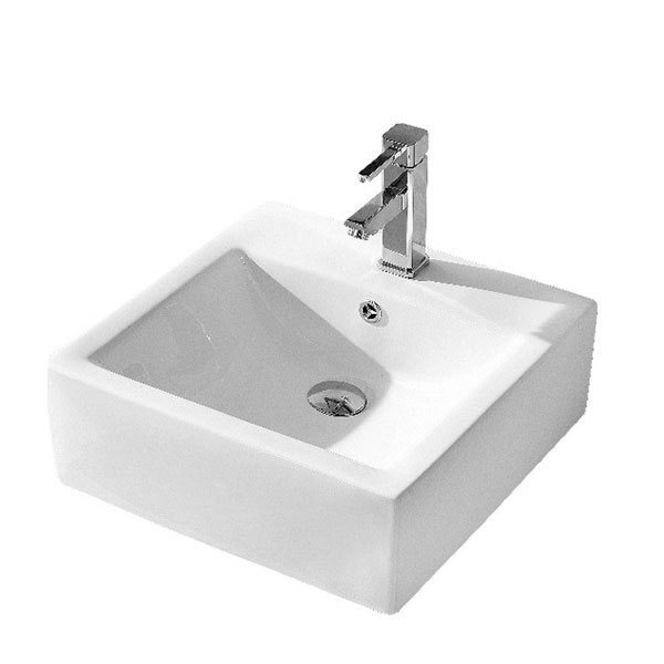 Fine Fixtures SV1717W 17 x 17 Cultured Marble Vessel White