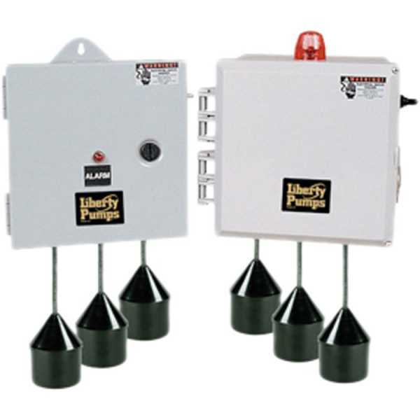 "Liberty Pumps SXHC24=3 3 Phase SX Series Simplex Pump Control w/ Wide Angle Float Switch, 20"" Cord  (15 - 20 Amp; 208V ~ 240V)"
