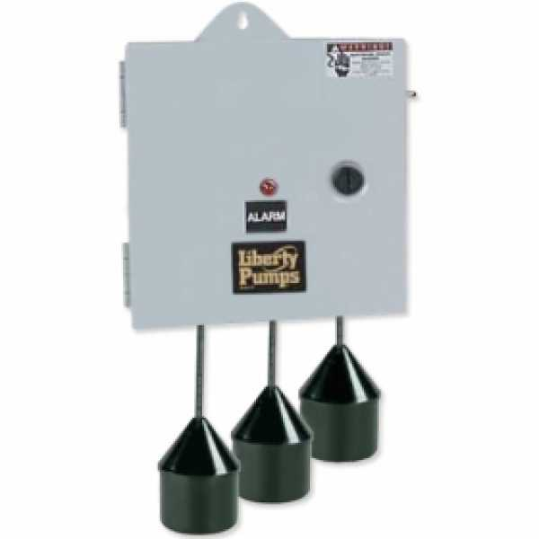 "Liberty Pumps SXH21=3  Single Phase SX Series Simplex Pump Control w/ Wide Angle Float Switch, 20"" Cord  (15 - 20 Amp; 110V ~ 120V)"