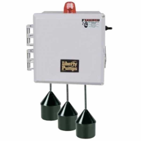 """Liberty Pumps SXL24=3  Single Phase SX Series Simplex Pump Control w/ Wide Angle Float Switch, 20"""" Cord  (0 - 14.9 Amp; 110V ~ 120V)"""
