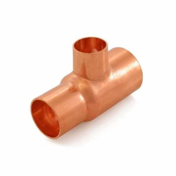 "1-1/4"" x 1"" x 3/4"" Copper Tee"