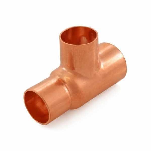 "1-1/4"" x 1"" x 1"" Copper Tee"