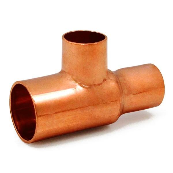 "3/4"" x 1/2"" x 1/2"" Copper Tee"
