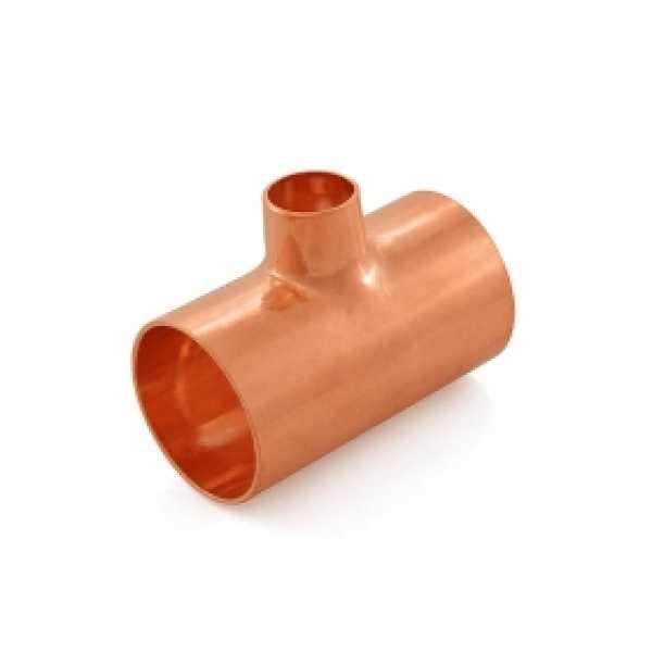 "1-1/4"" x 1-1/4"" x 1/2"" Copper Tee"