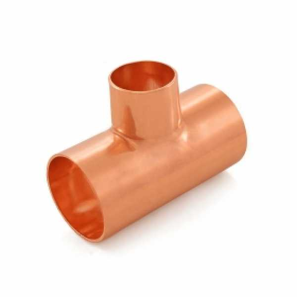 "1-1/2"" x 1-1/2"" x 1"" Copper Tee"