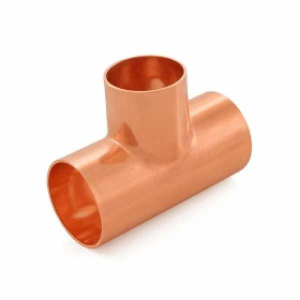 "1-1/2"" x 1-1/2"" x 1-1/4"" Copper Tee"