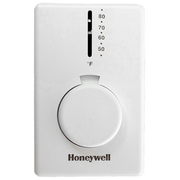 Honeywell T4398A1021 T4398 Series Non Programmable Heat Only Thermostat, Settable 50 F to 80 F