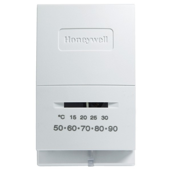 Honeywell T822L1000 T822L Series Non Programmable Single Stage Thermostat, Settable 45 F to 95 F