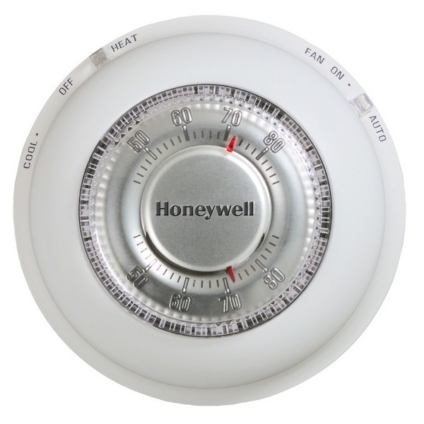 Honeywell T87K1007 T87K Series Non Programmable Heat Only Thermostat, Settable 40 F to 90 F
