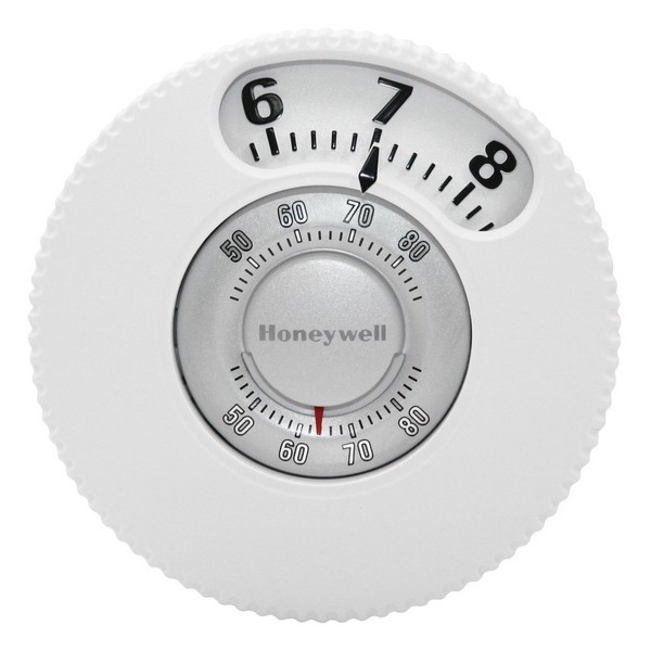 Honeywell T87N1026 T87N Series Non Programmable Single Stage Thermostat, Settable 40 F to 90 F