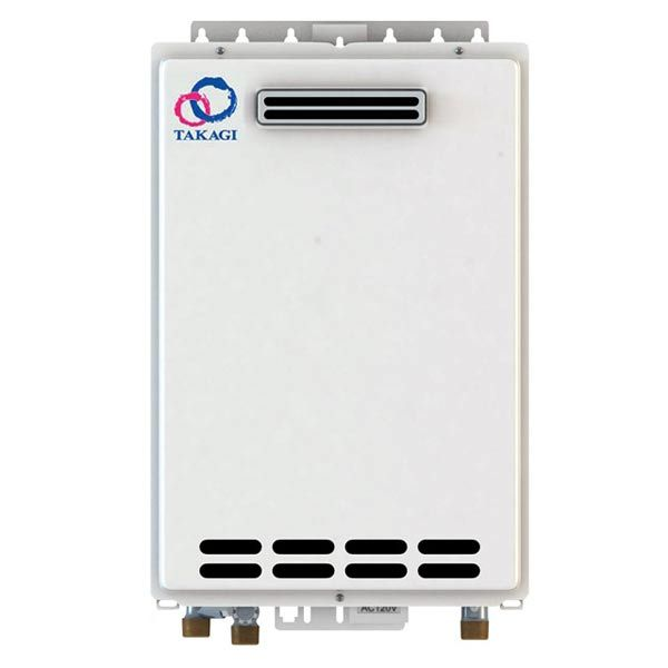 Outdoor Takagi T-KJr2-OS-LP Tankless Water Heater, Propane, 140K BTU